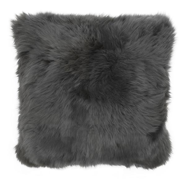 SKOLD Kissenbezug, Schaffell/grau, 50x50 cm