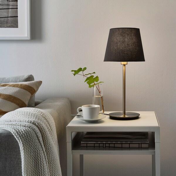 SKOTTORP / SKAFTET Tischleuchte, grau/vernickelt