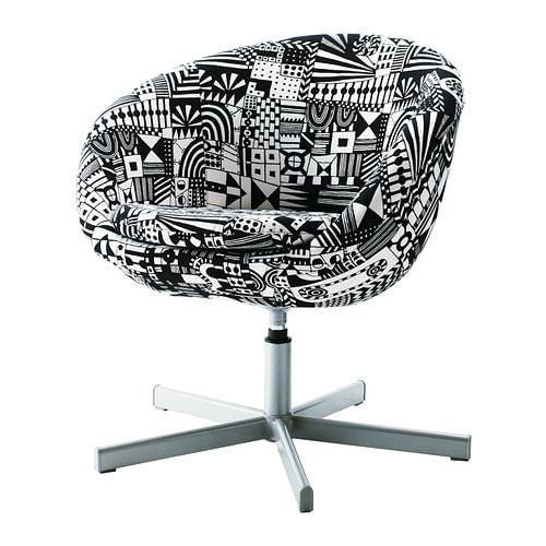 Ikea Kommoden Und Anrichten ~ SKRUVSTA Drehsessel  Sunnaryd schwarz weiß  IKEA