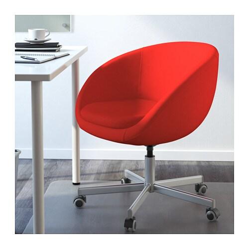 skruvsta drehstuhl vissle rotorange ikea. Black Bedroom Furniture Sets. Home Design Ideas