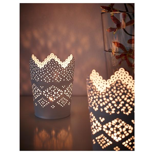 SKURAR Kerzenhalter, weiß, 12 cm