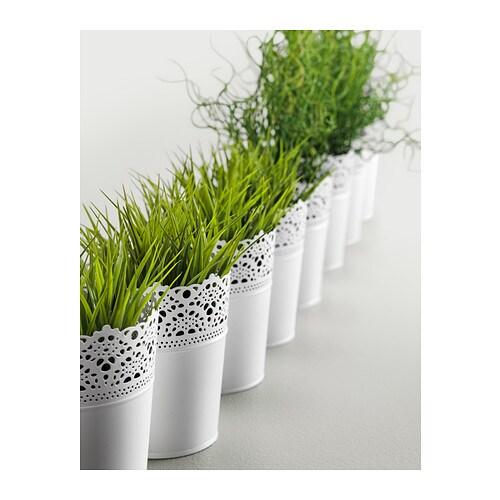 ikea bertopf skurar pflanzentopf 12cm 10 5cm au en innen 15cm hoch lackierter. Black Bedroom Furniture Sets. Home Design Ideas