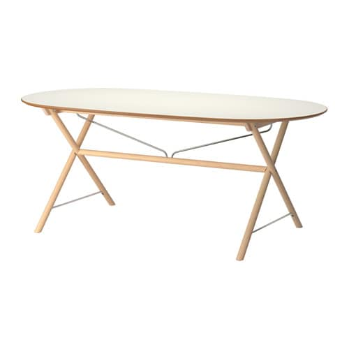 Sl hult tisch dalshult birke ikea for Ikea table ovale