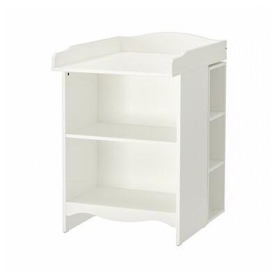 SMÅGÖRA Wickeltisch/Bücherregal mit Regal, weiß