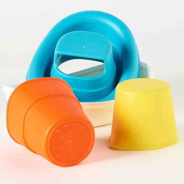 SMÅKRYP Badespielzeug, 3 Teile Boot