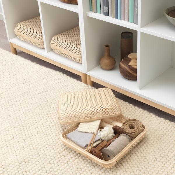SMARRA Box mit Deckel, naturfarben, 30x30x10 cm