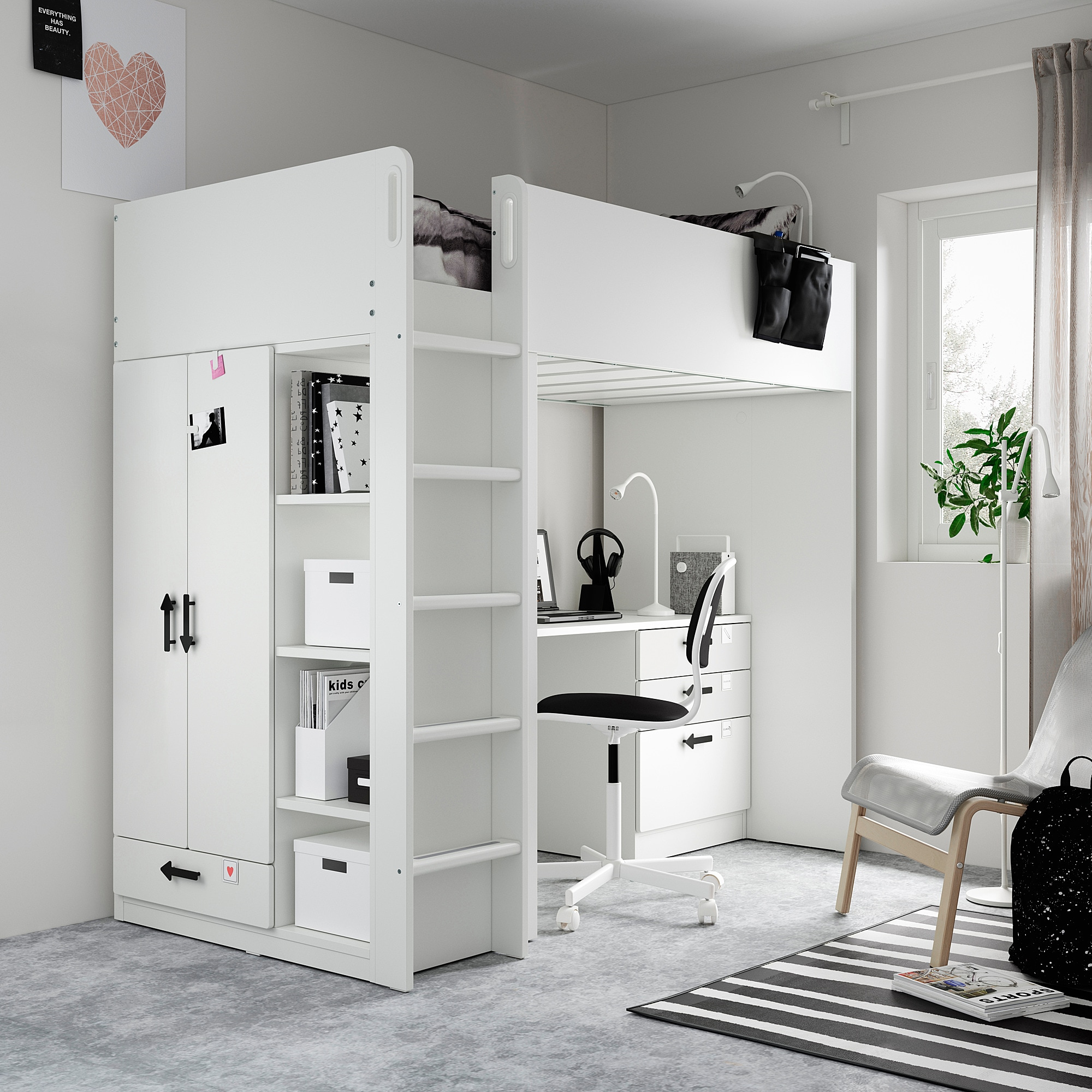 IKEA Kinderzimmer einrichten Smastad Multifunktionsbett