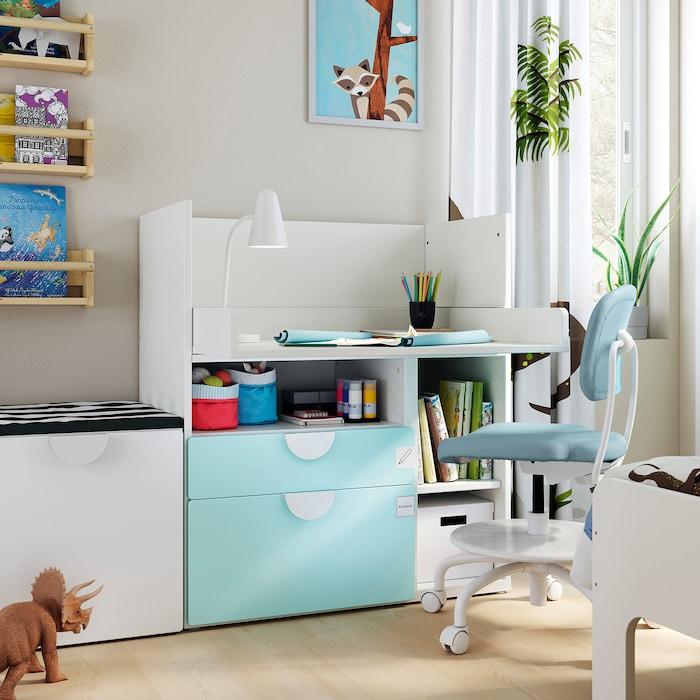 Kinderzimmer einrichten Wickelkommode Schreibtisch Hack