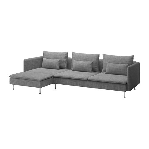 s derhamn 3er sofa und r camiere isunda grau ikea. Black Bedroom Furniture Sets. Home Design Ideas