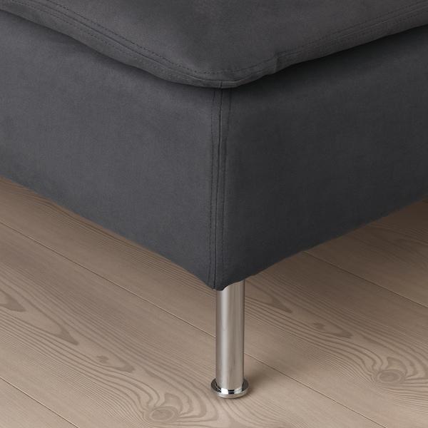 SÖDERHAMN 3er-Sofa ohne Abschluss/Samsta dunkelgrau 83 cm 69 cm 192 cm 99 cm 14 cm 6 cm 70 cm 39 cm