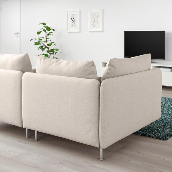 SÖDERHAMN 3er-Sofa ohne Abschluss/Gunnared beige 83 cm 69 cm 192 cm 99 cm 14 cm 6 cm 70 cm 39 cm