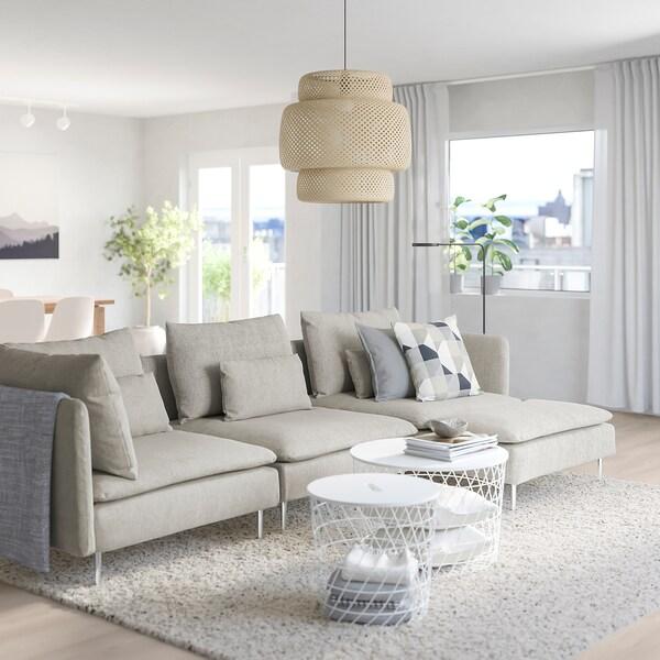 SÖDERHAMN 4er Sofa mit Récamiere Viarp beige braun