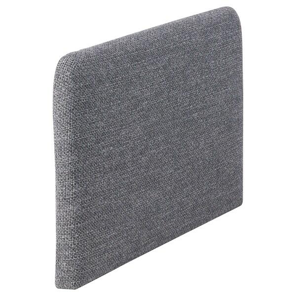 SÖDERHAMN Armlehne Lejde grau/schwarz 82 cm 6 cm 53 cm