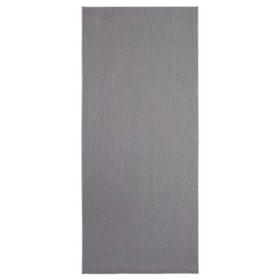 SÖLLINGE Teppich flach gewebt, grau, 65x150 cm