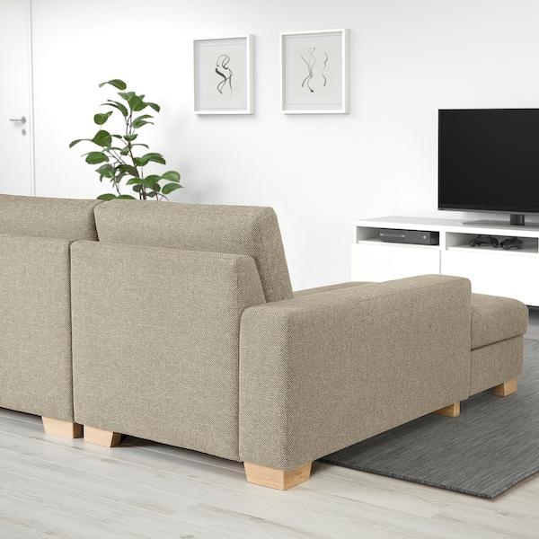 SÖRVALLEN 3er-Sofa mit Récamiere rechts/Lejde dunkelbeige 284 cm 88 cm 102 cm 193 cm 153 cm 7 cm 58 cm 263 cm 60 cm 45 cm