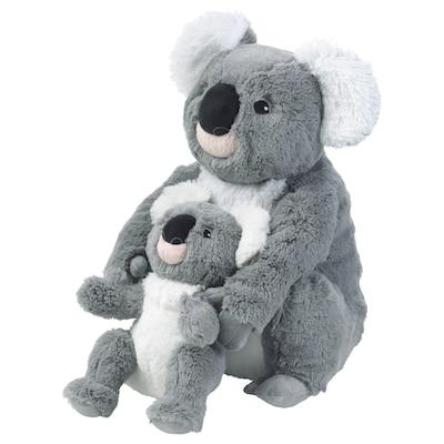 SÖTAST Stofftier 2er-Set, Koala/grau