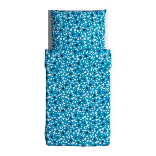 ikea solbrud 2 tlg bettw sche garnitur blau 140 x 200 cm bettbezug bettw scheset traumfabrik xxl. Black Bedroom Furniture Sets. Home Design Ideas