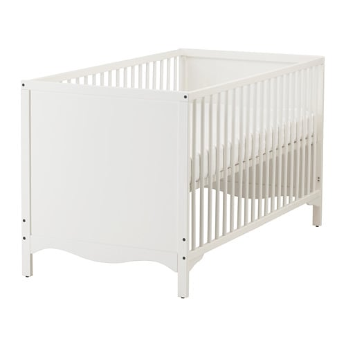Kinderbett weiß ikea  SOLGUL Babybett - IKEA
