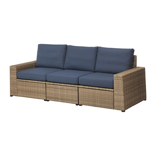 soller n 3er sofa au en braun fr s n duvholmen blau ikea. Black Bedroom Furniture Sets. Home Design Ideas