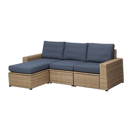 soller n 3er sofa hocker au en braun fr s n duvholmen blau ikea. Black Bedroom Furniture Sets. Home Design Ideas