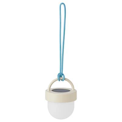 SOLVINDEN Solarhängeleuchte, LED, grau blau/für draußen rund, 10 cm