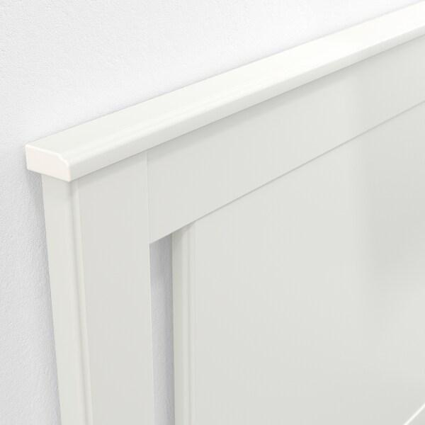 SONGESAND Bettgestell mit 4 Schubladen, weiß/Lönset, 140x200 cm