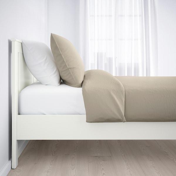 SONGESAND Bettgestell, weiß/Leirsund, 140x200 cm