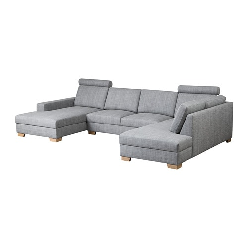 s rvallen ecksofa mit r camiere links isunda grau ikea. Black Bedroom Furniture Sets. Home Design Ideas