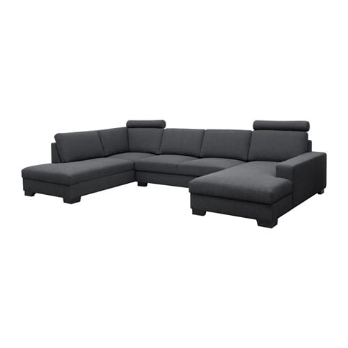 s rvallen ecksofa mit r camiere rechts ten dunkelgrau ikea. Black Bedroom Furniture Sets. Home Design Ideas