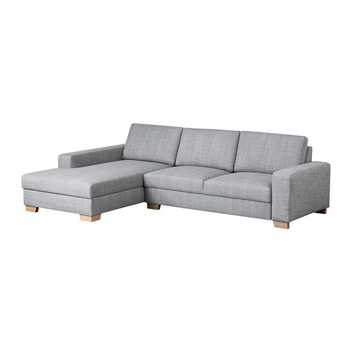 s rvallen 3er sofa mit r camiere links isunda grau ikea. Black Bedroom Furniture Sets. Home Design Ideas