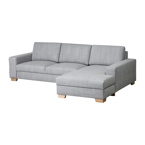 Sörvallen 3er Sofa Mit Récamiere Rechtsisunda Grau Ikea