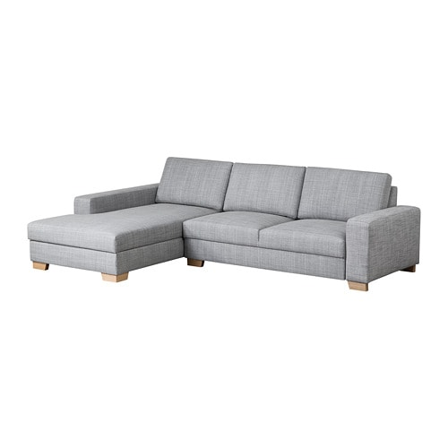 s rvallen 2er sofa mit r camiere links isunda grau ikea. Black Bedroom Furniture Sets. Home Design Ideas