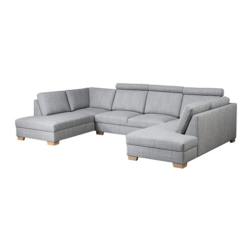 s rvallen sofa u form 4 sitzig isunda grau ikea. Black Bedroom Furniture Sets. Home Design Ideas