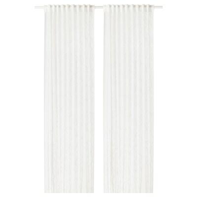 SPARVÖRT Gardinenstore/Paar weiß 300 cm 145 cm 4.65 m² 2 Stück