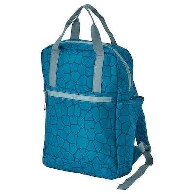 STARTTID Rucksack, gemustert/blau, 12 l