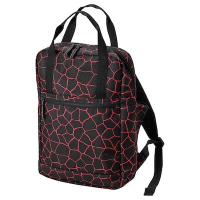 STARTTID Rucksack, schwarz/rot, 12 l