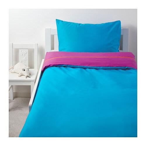 ikea stickat bettw sche lila blau t rkis bettbezug 140x200 cm bettw scheset neu ebay. Black Bedroom Furniture Sets. Home Design Ideas