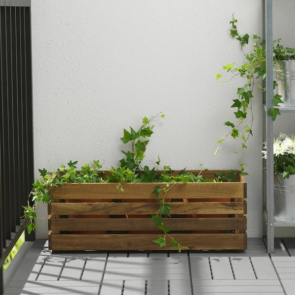 STJÄRNANIS Blumenkasten, für draußen Akazie, 75x27 cm