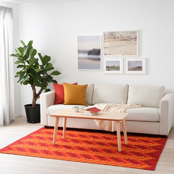 STOCKHOLM 2017 Teppich flach gewebt, Handarbeit/Zickzackmuster orange, 170x240 cm
