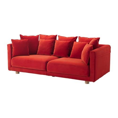 stockholm 2017 3er sofa sandbacka orange ikea. Black Bedroom Furniture Sets. Home Design Ideas