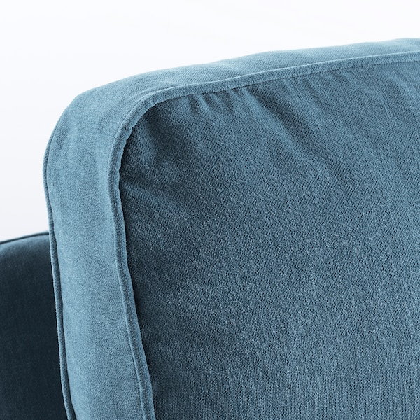 STOCKSUND 2er-Sofa, Ljungen blau/schwarz/Holz