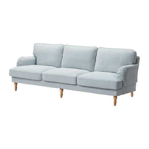 stocksund bezug 3 5er sofa remvallen blau wei ikea. Black Bedroom Furniture Sets. Home Design Ideas