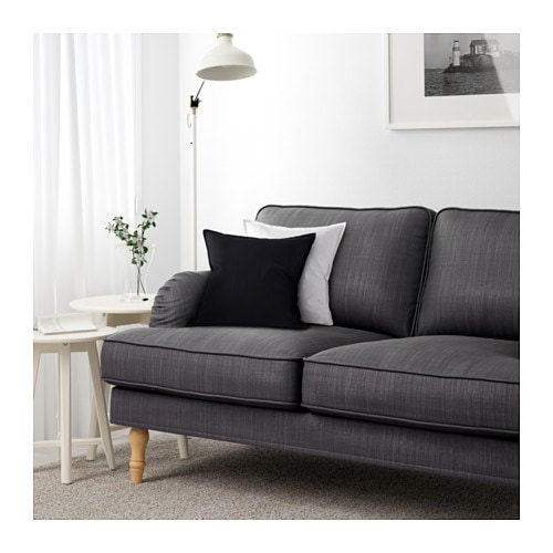 stocksund 2er sofa nolhaga dunkelgrau hellbraun ikea. Black Bedroom Furniture Sets. Home Design Ideas