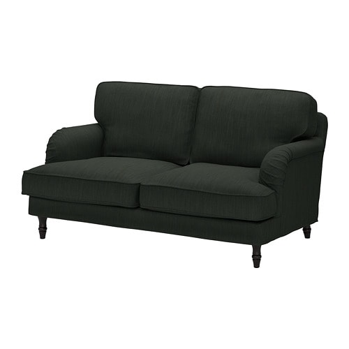 stocksund 2er sofa nolhaga dunkelgr n schwarz ikea. Black Bedroom Furniture Sets. Home Design Ideas