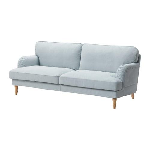 stocksund 3er sofa remvallen blau wei hellbraun ikea. Black Bedroom Furniture Sets. Home Design Ideas