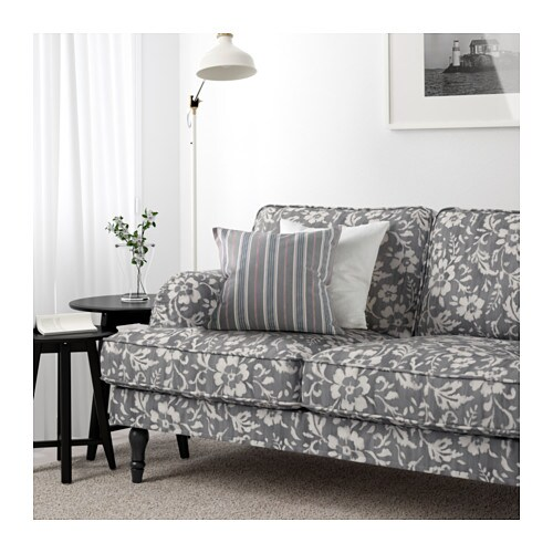 Recamiere ikea stocksund  STOCKSUND 3er-Sofa - Remvallen blau/weiß, hellbraun - IKEA