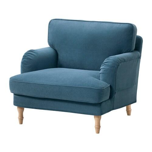 Stocksund Sessel Ljungen Blau Hellbraun Ikea