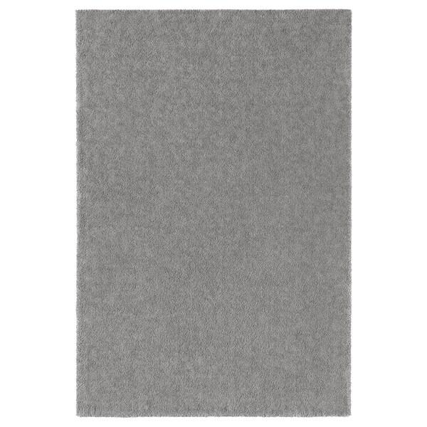 STOENSE Teppich Kurzflor, mittelgrau, 200x300 cm