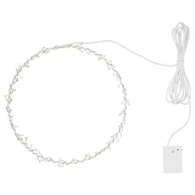 STRÅLA LED-Hängeleuchte, batteriebetrieben ringförmig/blinkend bunt