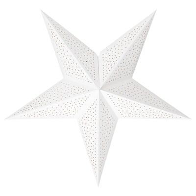 STRÅLA Leuchtenschirm, Punkte weiß, 70 cm